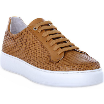Chaussures Homme Baskets basses Exton INTRECCIATO CAMEL Marrone