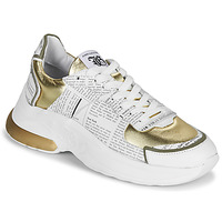 Chaussures Femme Baskets basses John Galliano 3646 Blanc / Doré