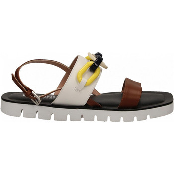 Chaussures Femme Sandales et Nu-pieds Pollini Silver POLLINI ALESS20 bianco-cuoio