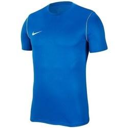 Vêtements Garçon T-shirts manches courtes Nike JR Park 20 Bleu