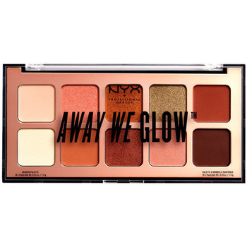 Beauté Femme Palettes maquillage yeux Nyx Away We Glow Shadow Palette hooked On Glow 10x1 Gr