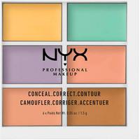 Beauté Femme Anti-cernes & correcteurs Nyx Conceal Correct Contour Palette 6x1,5 Gr