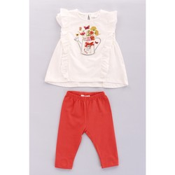 Vêtements Fille Ensembles enfant Byblos Blu BJ15028 Blanc / Rouge