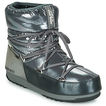 Chaussures Femme Bottes de neige Moon Boot MOON BOOT LOW SAINT MORITZ WP Gris