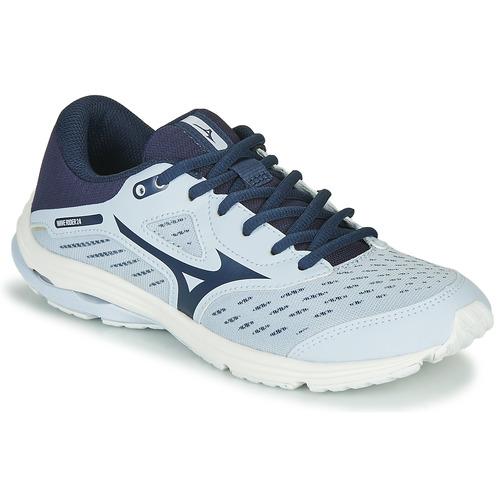Mizuno WAVE RIDER JR Bleu - Chaussures Chaussures-de-running ...