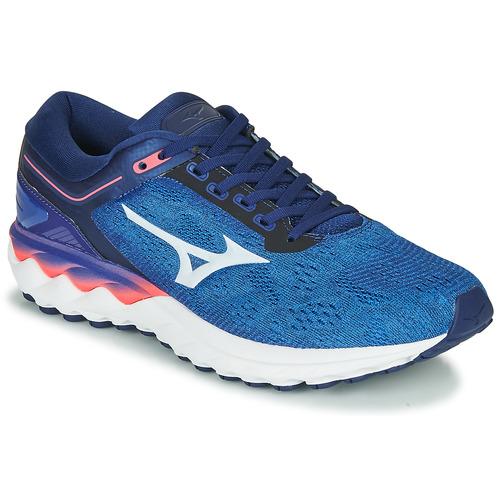 Chaussures Homme Running / trail Mizuno WAVE SKY RISE Bleu