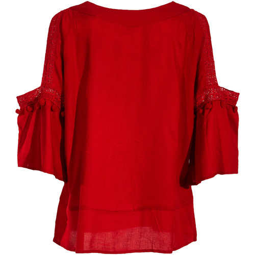 Coline Blouse femme manches 3/4 Rouge 17658162
