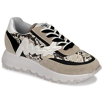 Chaussures Femme Baskets montantes Meline TRO1700 Beige / Python