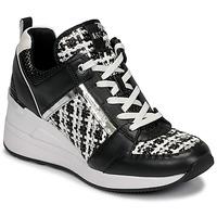 Chaussures Femme Baskets basses MICHAEL Michael Kors GEORGIE TRAINER Noir / Blanc
