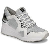 Chaussures Femme Baskets basses MICHAEL Michael Kors LIV TRAINER Blanc / Argent