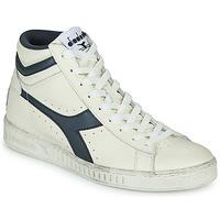 Chaussures Baskets montantes Diadora GAME L HIGH WAXED Blanc / Bleu