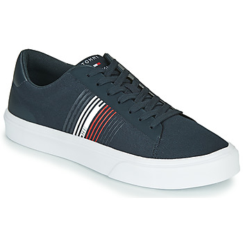 Chaussures Homme Baskets basses Tommy Hilfiger LIGHTWEIGHT STRIPES KNIT SNEAKER Bleu / Blanc / Rouge