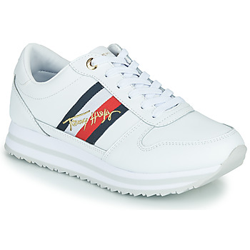 Chaussures Femme Baskets basses Tommy Hilfiger TOMMY HILFIGER SIGNATURE RUNNER SNEAKER Blanc