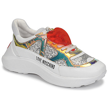 Chaussures Femme Baskets basses Love Moschino JA15196G1B Argent