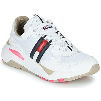 Chaussures Femme Baskets basses Tommy Jeans WMN TOMMY JEANS COOL RUNNER Blanc / Bleu / Rouge