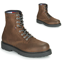 Chaussures Homme Boots Tommy Jeans NUBUCK WARMLINED LACE UP BOOT Marron