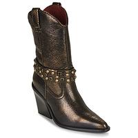 Chaussures Femme Bottines Bronx NEW KOLE Noir / Doré