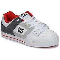 Chaussures Homme Baskets basses DC Shoes PURE Blanc / Gris / Rouge