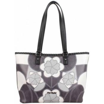 Sacs Femme Cabas / Sacs shopping Mac Alyster Sac shopping  Impression noir motif fleur Noir