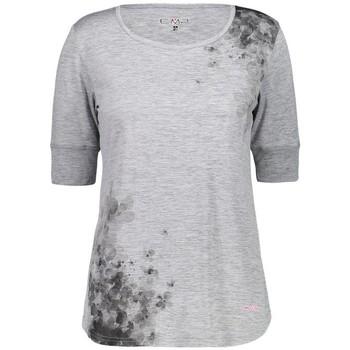 Vêtements Femme T-shirts manches courtes Cmp W TSHIRT GRIGIO MEL BUNGAVILLE FEMME 2020 Unicolor