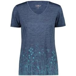 Vêtements Femme T-shirts manches courtes Cmp W TSHIRT BLUE MEL FEMME 2020 Unicolor