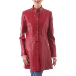 Vêtements Femme Vestes en cuir / synthétiques Giorgio Joan Rouge Rouge