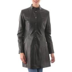 Vêtements Femme Vestes en cuir / synthétiques Giorgio Joan Noir Noir