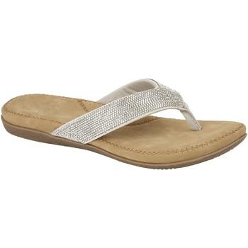 Chaussures Femme Tongs Cipriata  Argenté