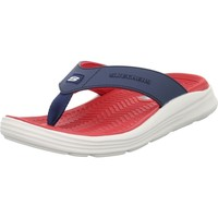 Chaussures Homme Tongs Skechers Sargo Sunview Rouge,Bleu marine