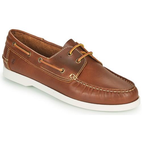 Chaussures Homme Chaussures bateau Casual Attitude REVORO Marron