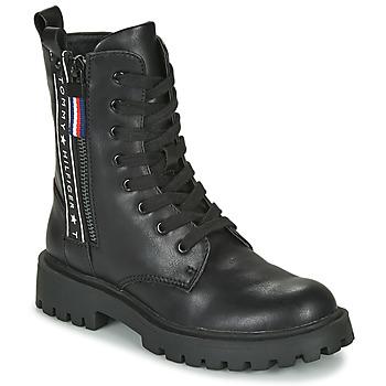 Chaussures Enfant Boots Tommy Hilfiger T3A5-30851 Noir