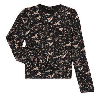 Vêtements Fille T-shirts manches longues Ikks XR12052 Noir