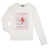 Vêtements Garçon T-shirts manches longues Ikks XR10023 Blanc