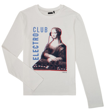 Vêtements Garçon T-shirts manches longues Ikks XR10333 Blanc
