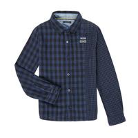 Vêtements Garçon Chemises manches longues Ikks XR12123 Bleu