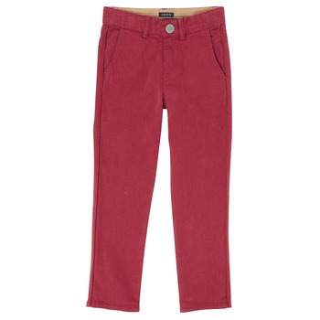 Vêtements Garçon Pantalons 5 poches Ikks XR22093 Rouge
