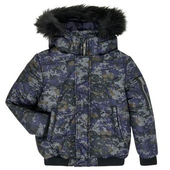 Vêtements Garçon Doudounes Ikks XR41133 Bleu