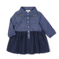 Vêtements Fille Robes courtes Ikks XR30150 Bleu