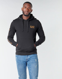 Vêtements Homme Sweats Emporio Armani EA7 TRAIN LOGO SERIES M HOODIE RN COFT Noir