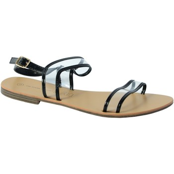 Chaussures Femme Sandales et Nu-pieds The Divine Factory Sandale Noir