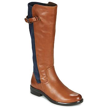 Chaussures Femme Bottes ville Caprice 25504-387 Cognac / Bleu