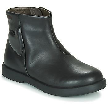 Chaussures Fille Boots Camper DTT1 Noir