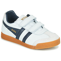 Chaussures Enfant Baskets basses Gola HARRIER VELCRO Blanc / Marine