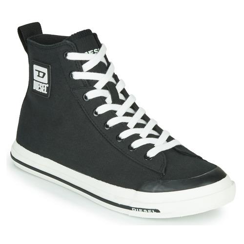 Chaussures Homme Baskets montantes Diesel S-ASTICO MID CUT Noir