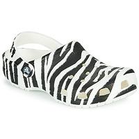 Chaussures Femme Sabots Crocs CLASSIC ANIMAL PRINT CLOG Zébré