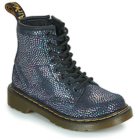 Chaussures Fille Boots Dr Martens 1460 J Noir Métallisé