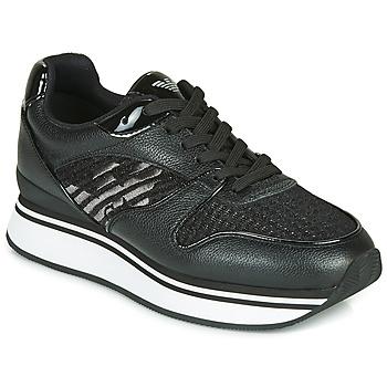 Chaussures Femme Baskets basses Emporio Armani  Noir