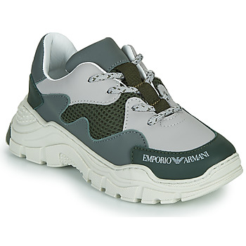 Chaussures Enfant Baskets basses Emporio Armani XYX008-XOI34 Vert / Gris