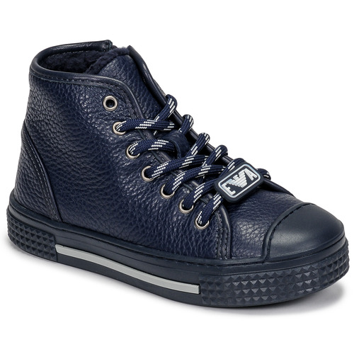 Chaussures Enfant Baskets montantes Emporio Armani XYZ004-XOI25 Marine