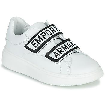 Chaussures Enfant Baskets basses Emporio Armani XYX007-XCC70 Blanc / Noir